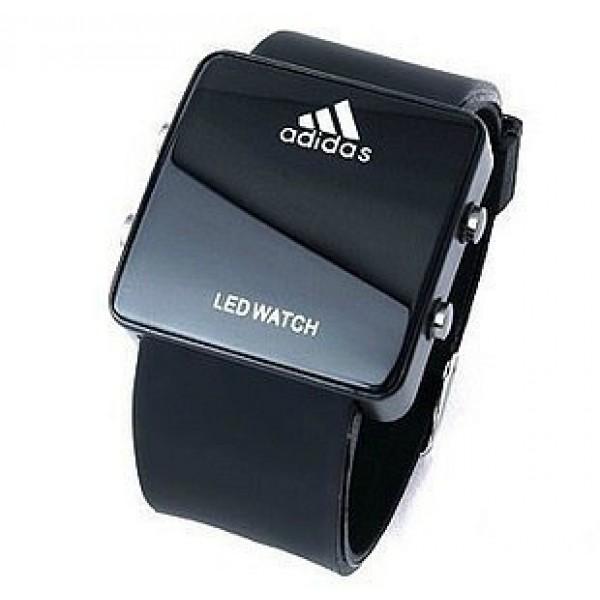 0d8bd5e6 Часы Адидас Led watch Ledчасы зеркальные черные 490 руб Доставка почтой 300